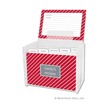 Recipe Box - Kent Stripe