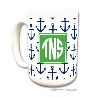 Mugs - Anchors Navy