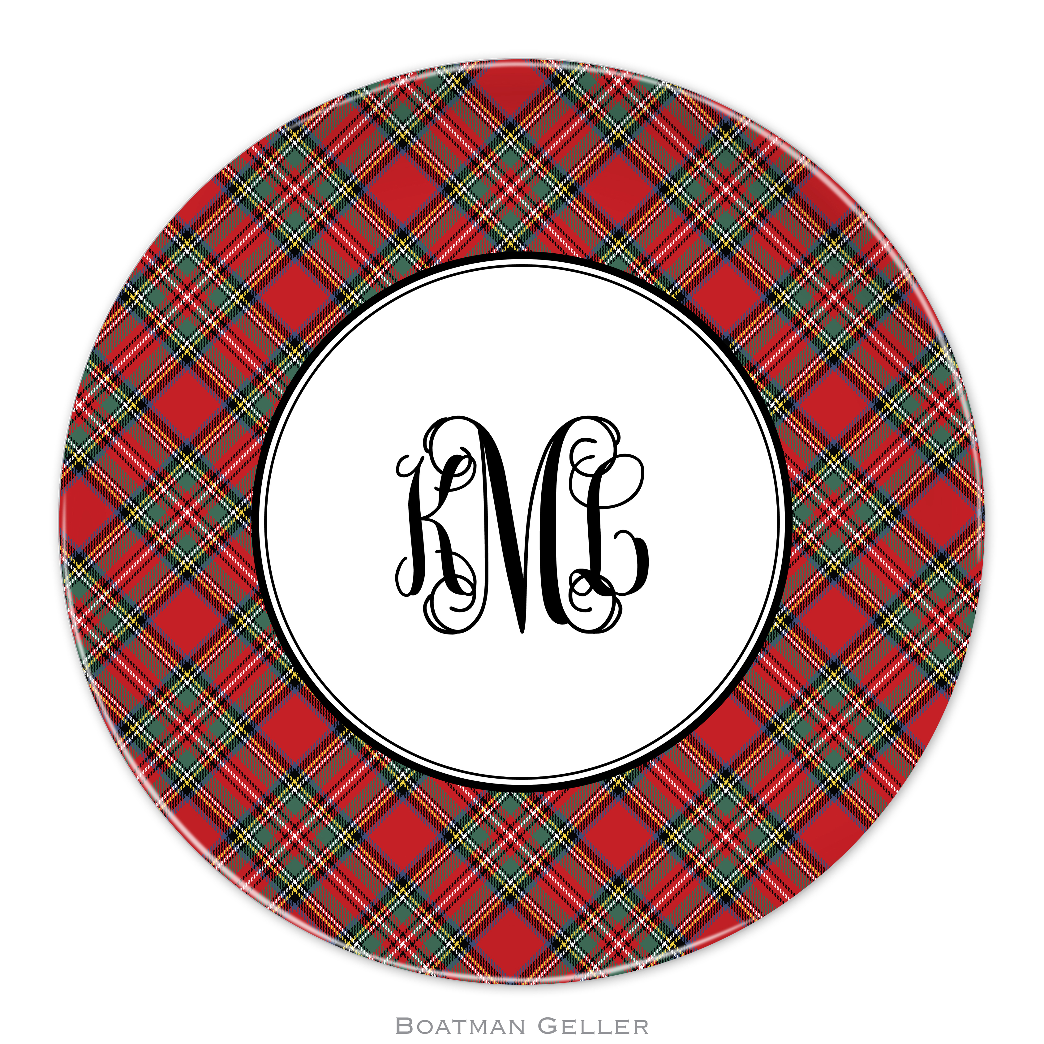 "Plates 10"" - Plaid Red"