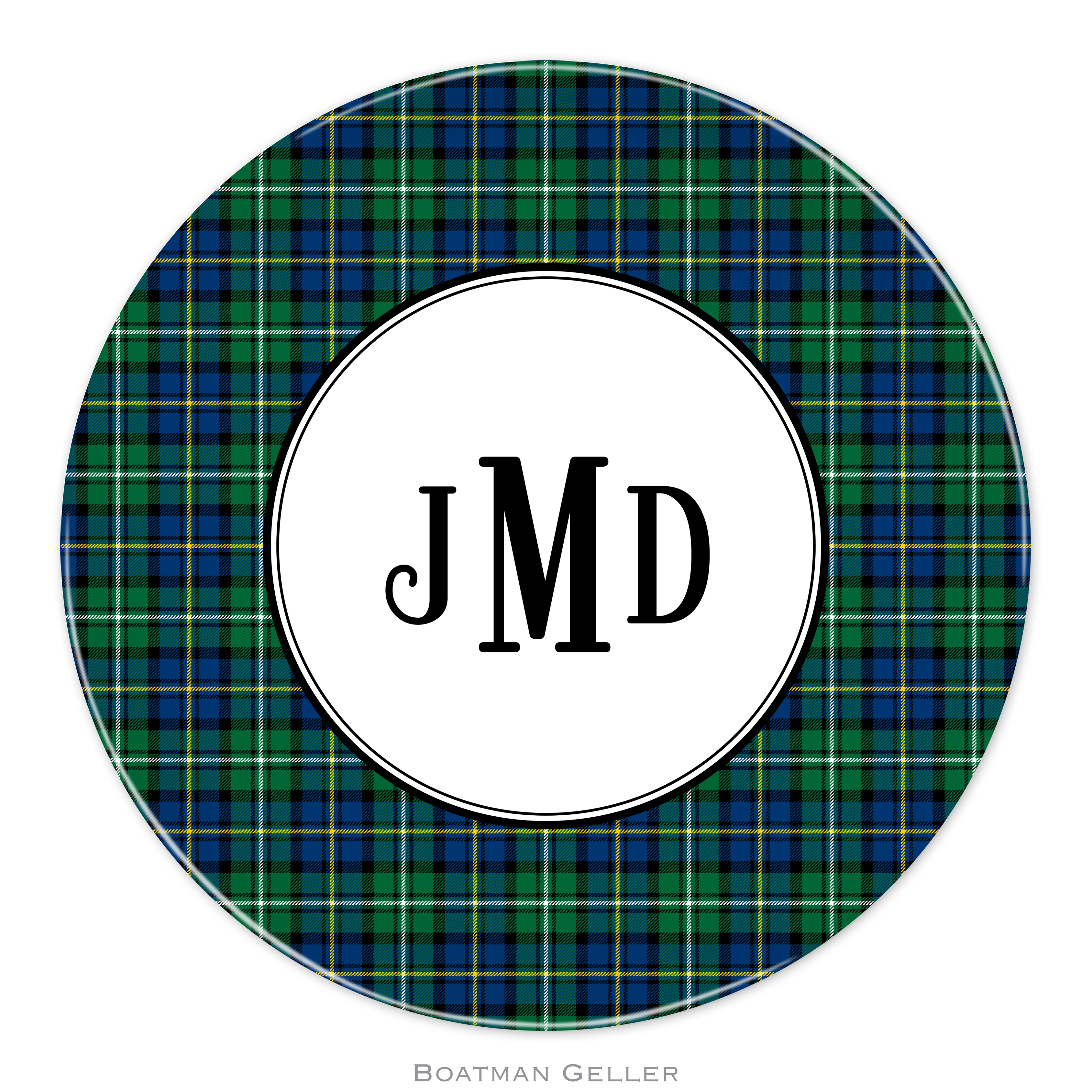 "Plates 10"" - Black Watch Plaid"