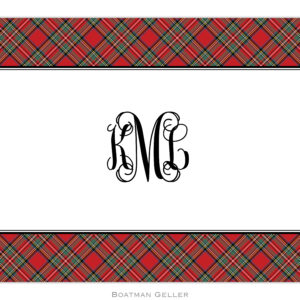 Placemat - Plaid Red