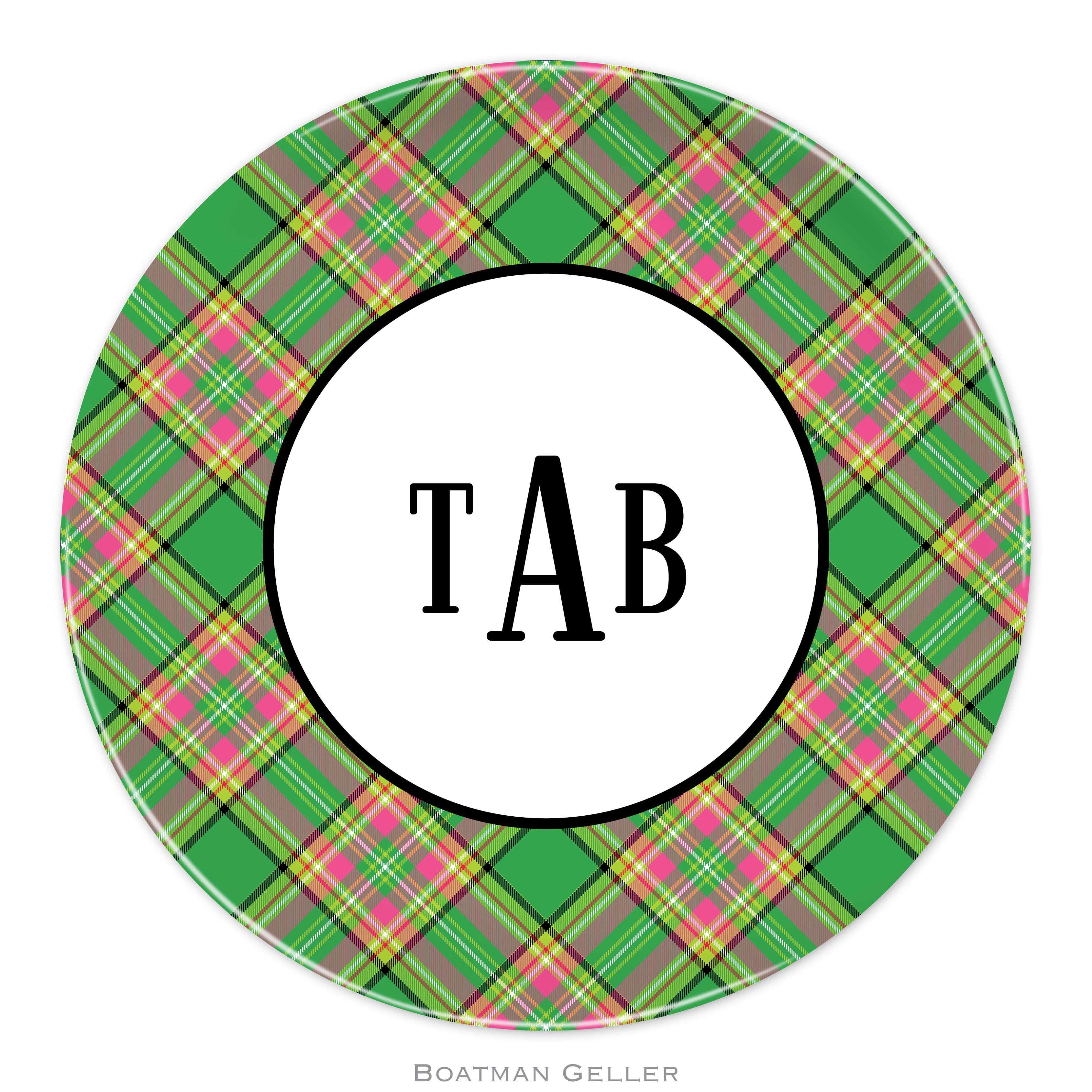 "Plates 10"" - Preppy Plaid"