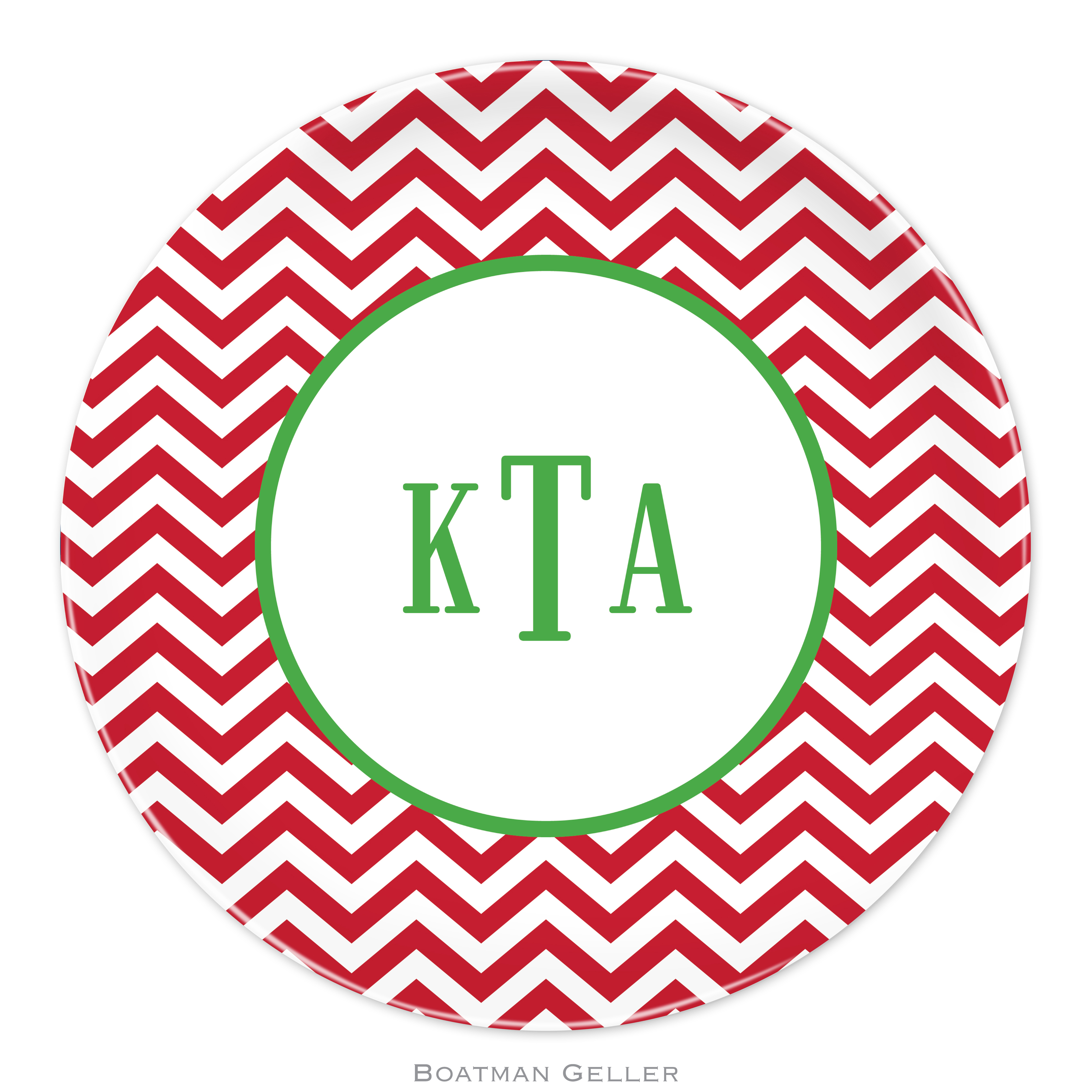 "Plates 10"" - Chevron Red"