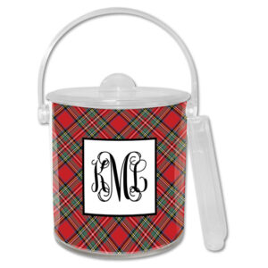 Ice Bucket - Plaid Red